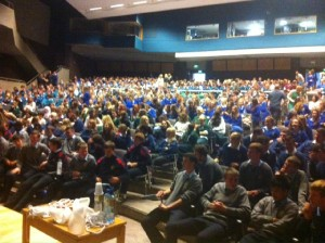 University of Limerick. Maths Magic with 700 students
